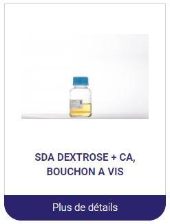 SDA Dextrose milieux de culture en bouteille alliance bio expertise