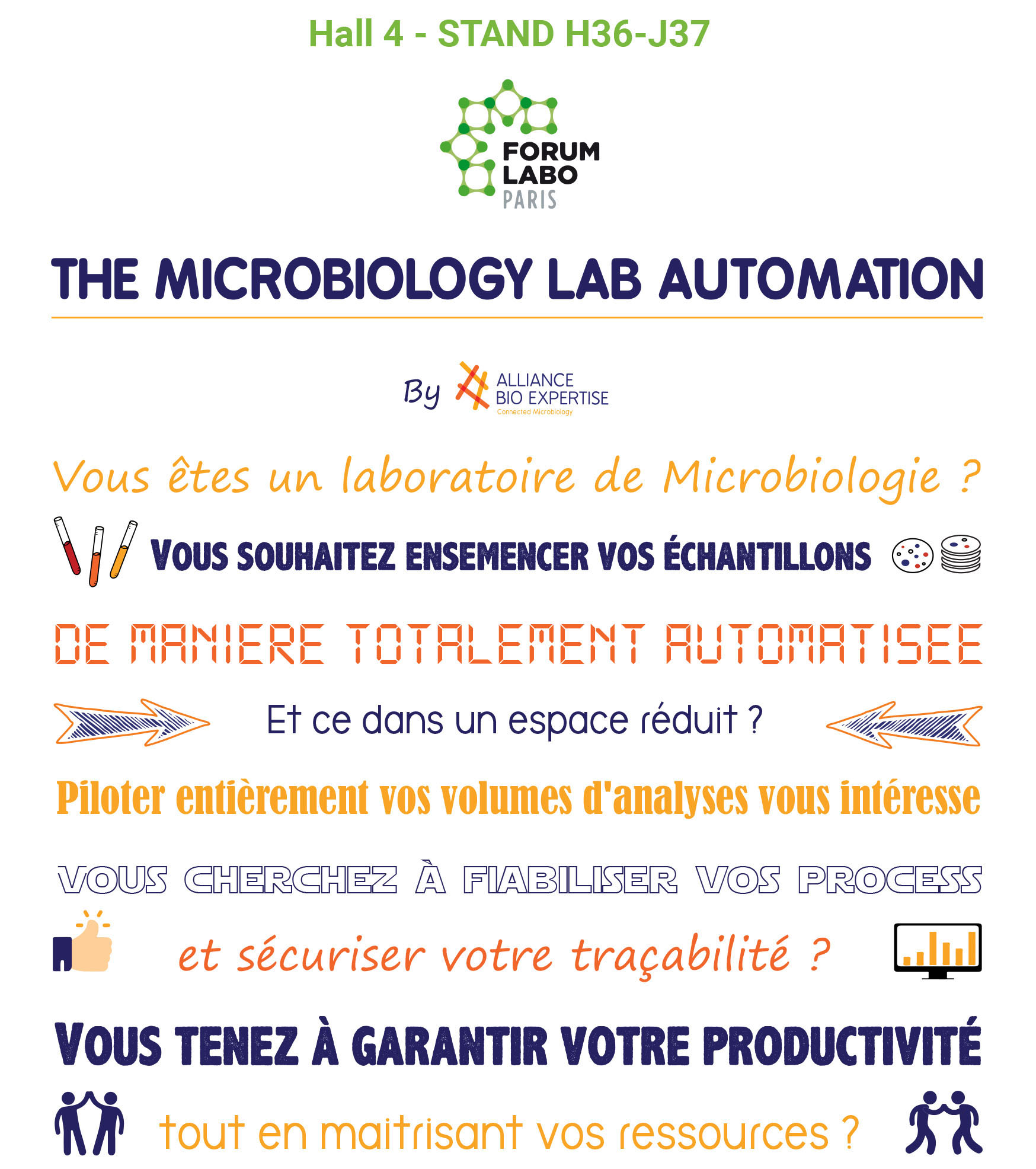 the microbiology lab automation FORUM LABO