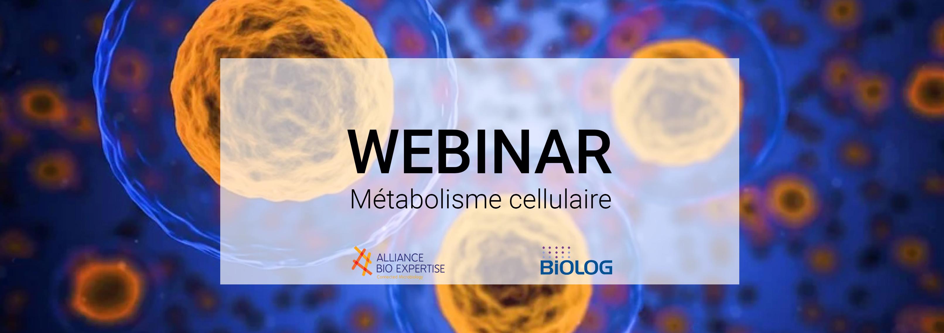 webinar métabolisme cellulaire - alliance bio expertise